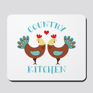 Country Kitchen Roosters Mousepad