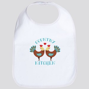 Country Kitchen Roosters Bib