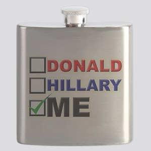 Donald, Hillary, or You? Flask
