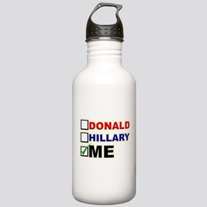 Donald, Hillary, or You? Water Bottle