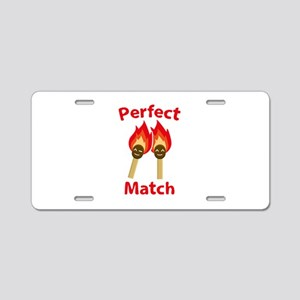 Perfect Match Aluminum License Plate