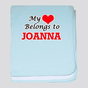 My heart belongs to Joanna baby blanket
