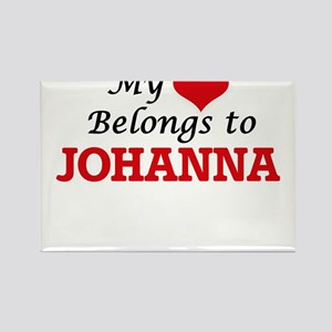 My heart belongs to Johanna Magnets