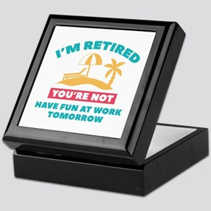 I'm Retired Keepsake Box