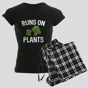 Runs On Plants Women's Dark Pajamas
