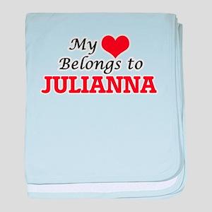 My heart belongs to Julianna baby blanket