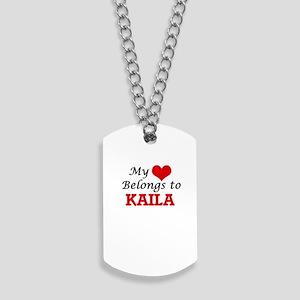 My heart belongs to Kaila Dog Tags