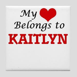 My heart belongs to Kaitlyn Tile Coaster