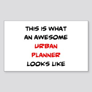 awesome urban planner Sticker (Rectangle)
