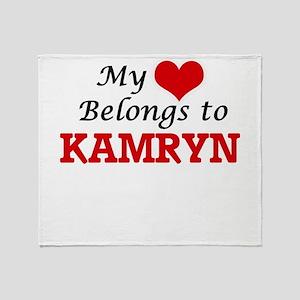 My heart belongs to Kamryn Throw Blanket
