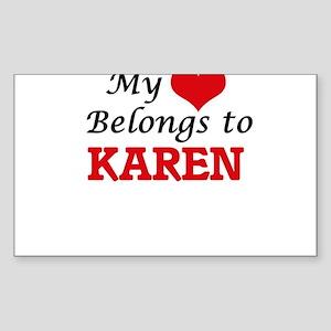My heart belongs to Karen Sticker