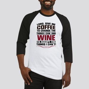 Coffee and Wine Baseball Tee