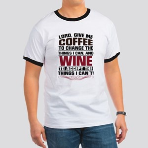 Coffee and Wine Ringer T