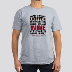 Coffee and Wine Men's Fitted T-Shirt (dark)