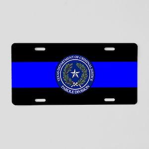 TDCJ Thin Blue Line Aluminum License Plate