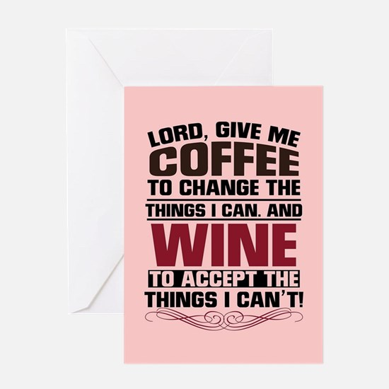 Coffee and Wine Greeting Card
