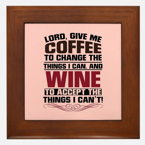 Coffee & Wine Framed Tile