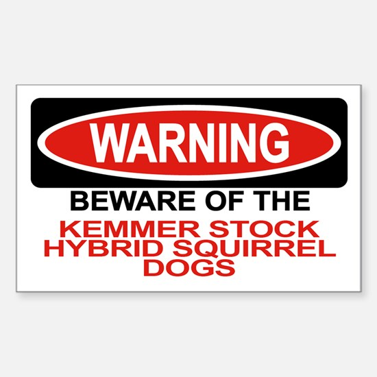 KEMMER STOCK HYBRID SQUIRREL DOGS Decal