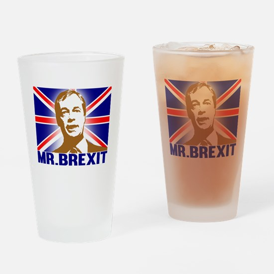 Mr Brexit Drinking Glass