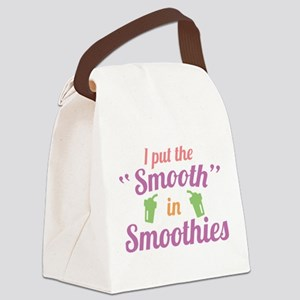 Smooth In Smoothies Canvas Lunch Bag