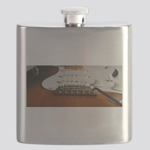 Close up music photo electric guitar Flask