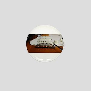 Close up music photo electric guitar Mini Button
