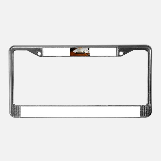 Close up music photo electric License Plate Frame