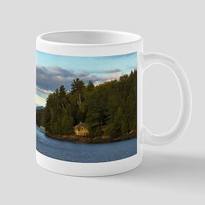 lakeside mountain view Mugs