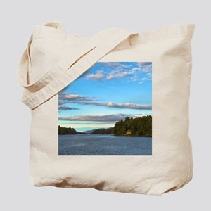 lakeside mountain view Tote Bag