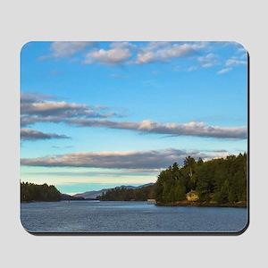 lakeside mountain view Mousepad