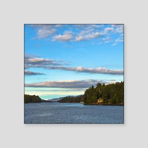 lakeside mountain view Sticker