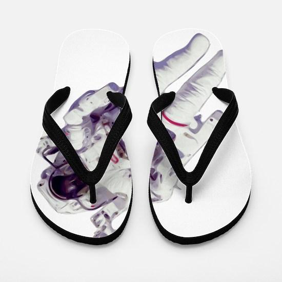 Cool Astronaut Flip Flops