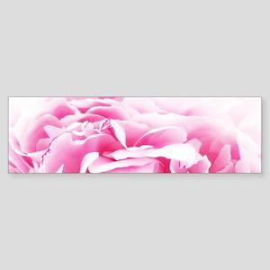 chic pastel pink peony Bumper Sticker