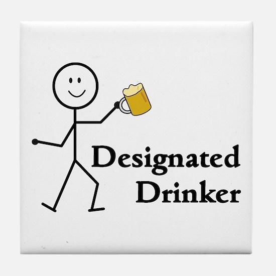 Designated Drinker Tile Coaster