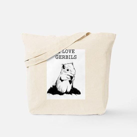 I Love Gerbils Tote Bag