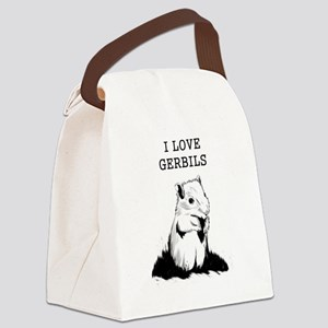 I Love Gerbils Canvas Lunch Bag