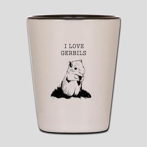 I Love Gerbils Shot Glass