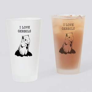 I Love Gerbils Drinking Glass