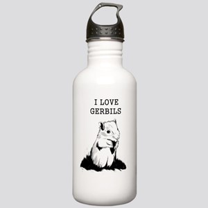 I Love Gerbils Stainless Water Bottle 1.0L