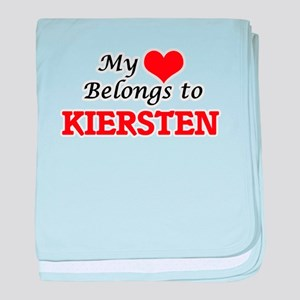 My heart belongs to Kiersten baby blanket
