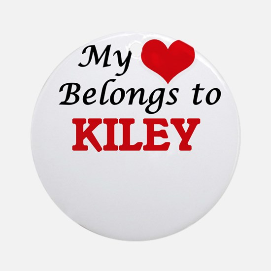 My heart belongs to Kiley Round Ornament