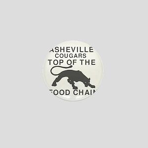 Asheville Cougar Food Chain-Black Mini Button