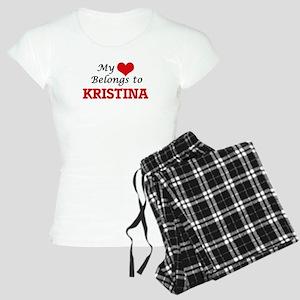 My heart belongs to Kristin Women's Light Pajamas