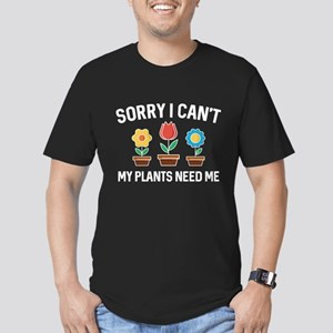 Sorry I Can't Men's Fitted T-Shirt (dark)