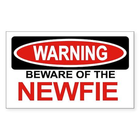 NEWFIE Rectangle Sticker