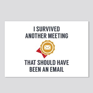 I Survived Another Meeting Postcards (Package of 8