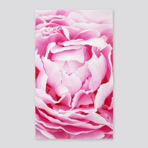 chic pastel pink peony Area Rug