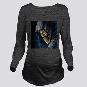 Grim Reaper Long Sleeve Maternity T-Shirt