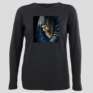 Grim Reaper Plus Size Long Sleeve Tee