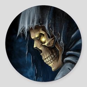 Grim Reaper Round Car Magnet